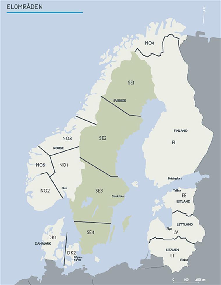 Nordiske elområder