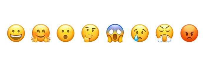 Illustration af emojis.