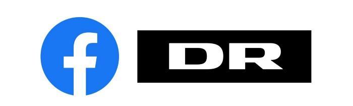Illustration af Facebooks og DR's logo.