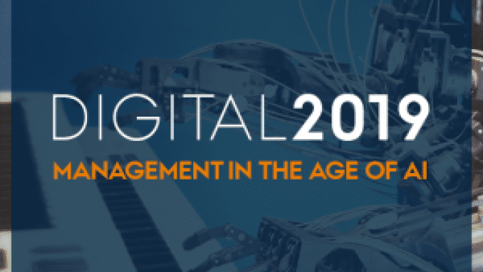 Digital2019 - Management in the age of AI